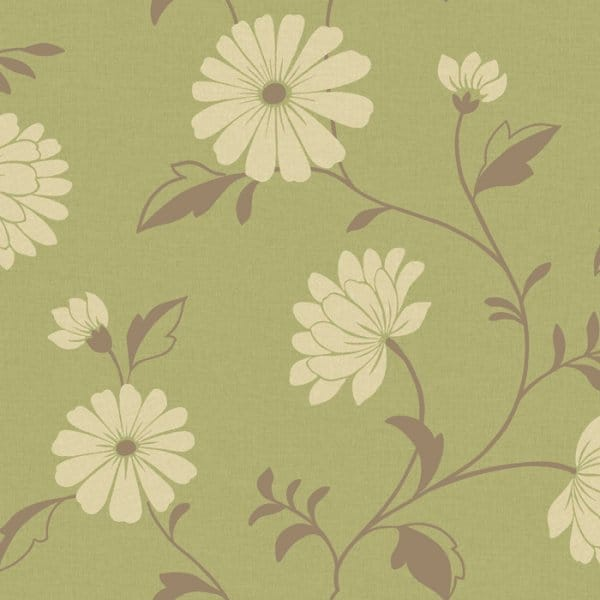 Arthouse chelsea designer feature floral wallpaper green for Cheap green wallpaper