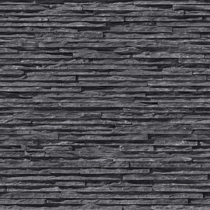 I Love Wallpaper Brick Effect : I Love Wallpaper Fine Slate Brick Effect Designer Wallpaper charcoal / Black eBay