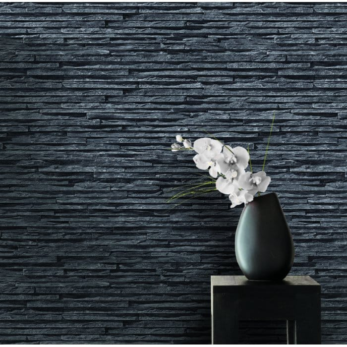 I Love Wallpaper Fine Slate Brick Effect Designer ...