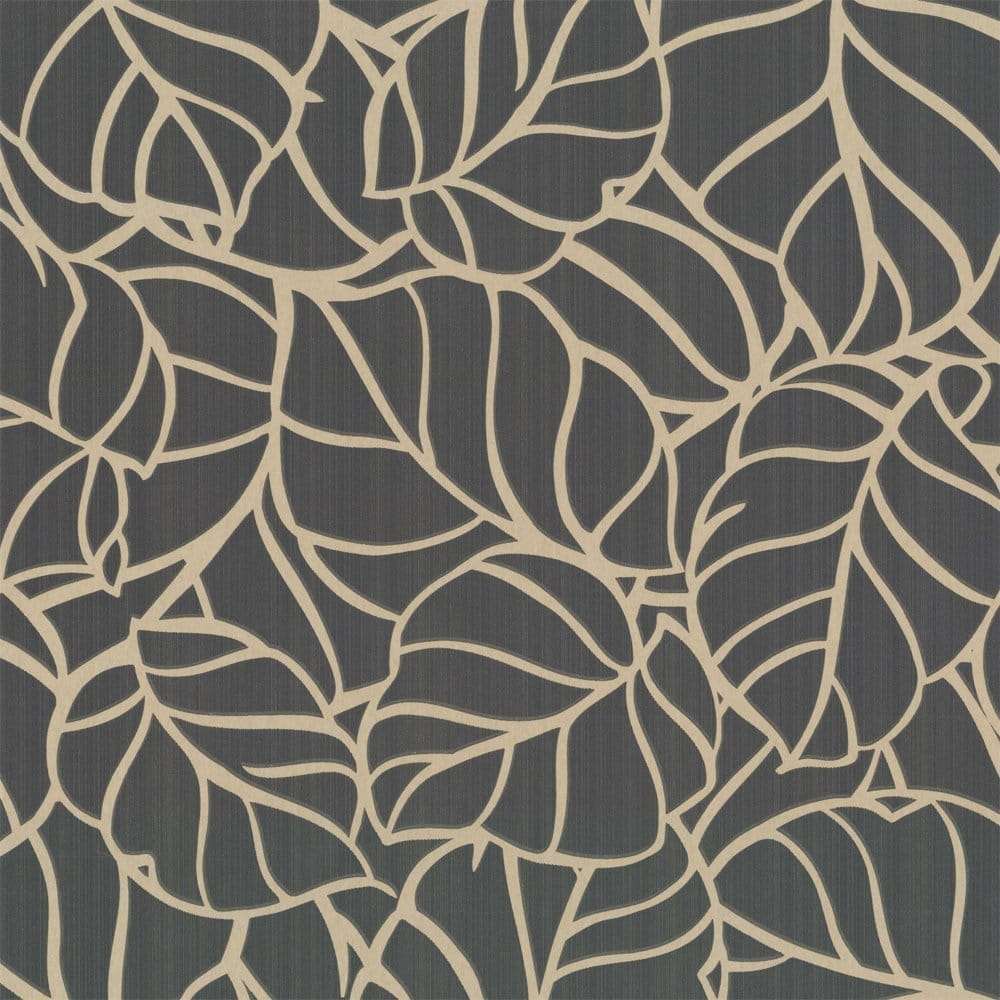 Graham Amp Brown Vine Designer Feature Wallpaper Charcoal