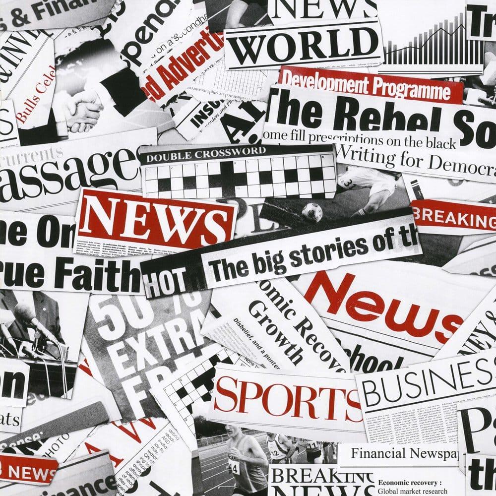 Muriva Fleet Street Newspaper Designer Feature Wallpaper ...