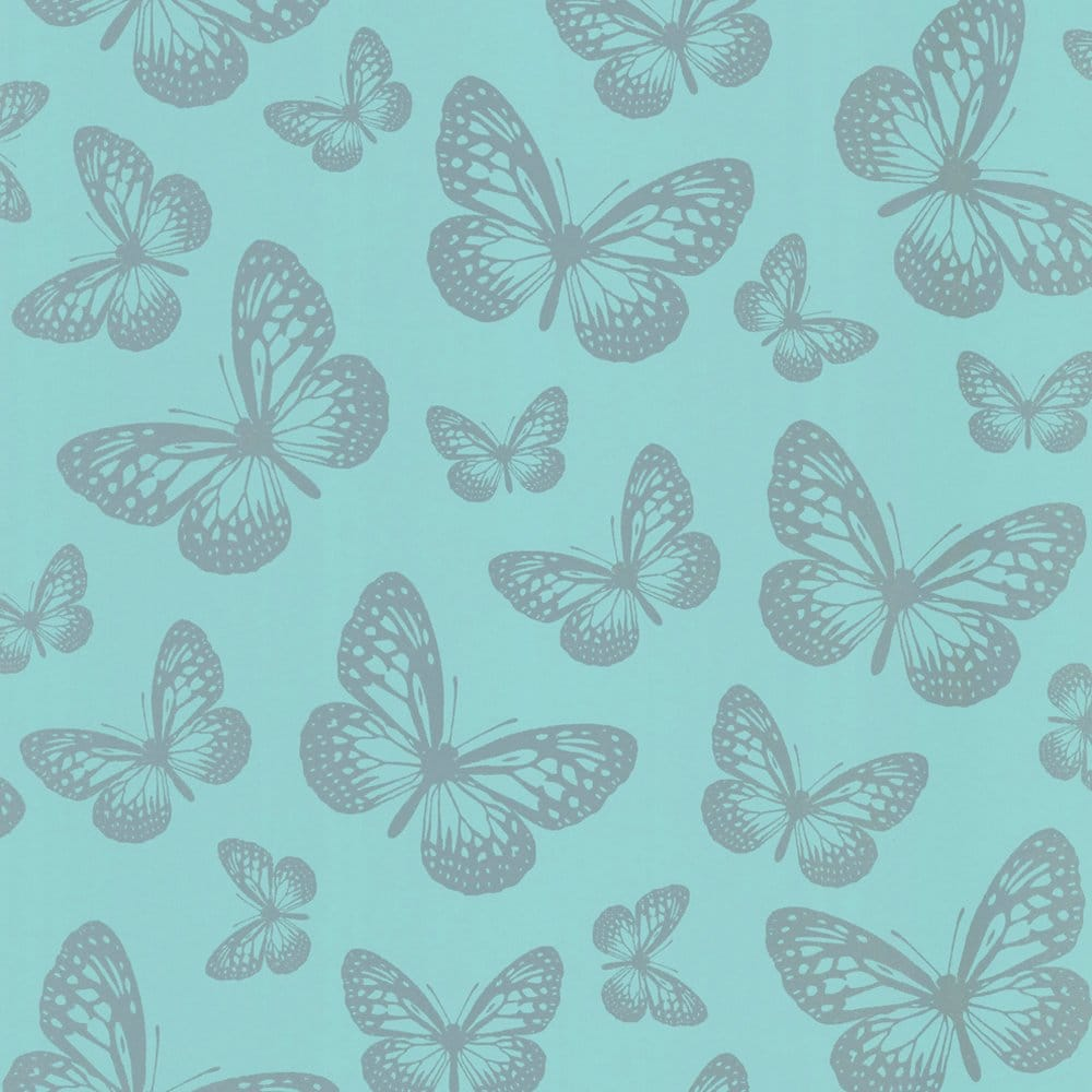 I love wallpaper metallic butterfly designer feature for Teal wallpaper