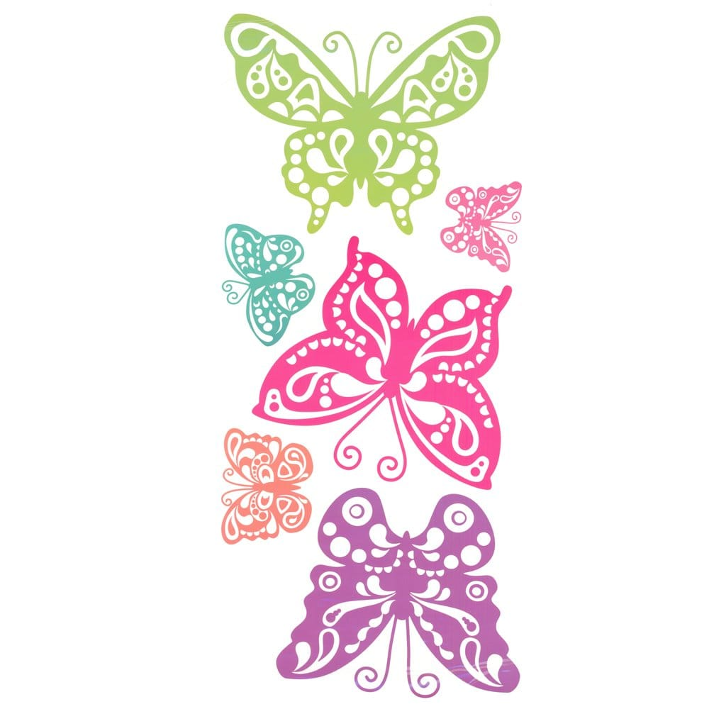 Designer selection 10 giant butterfly wall stickers for Butterfly wall mural stickers