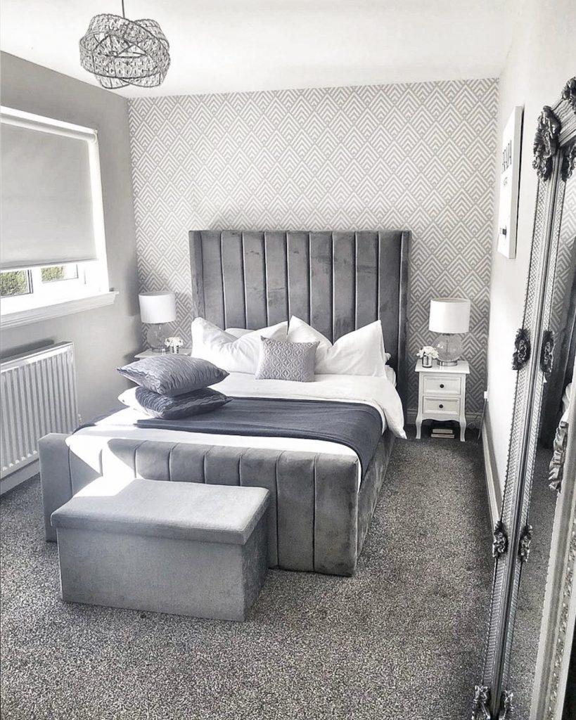 Grey Glitter Wallpaper Bedroom Ideas