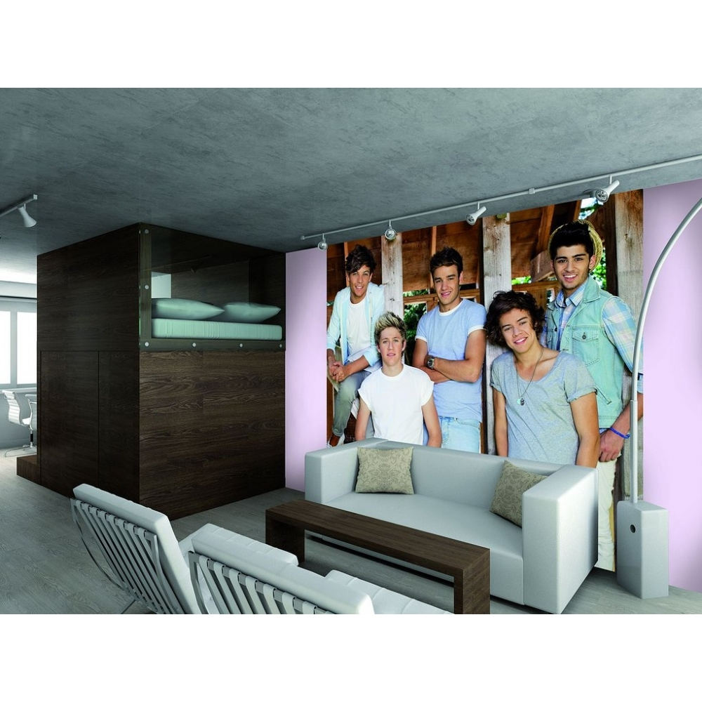 1 wall official one direction barn wall mural 1d wall for Barnyard wall mural