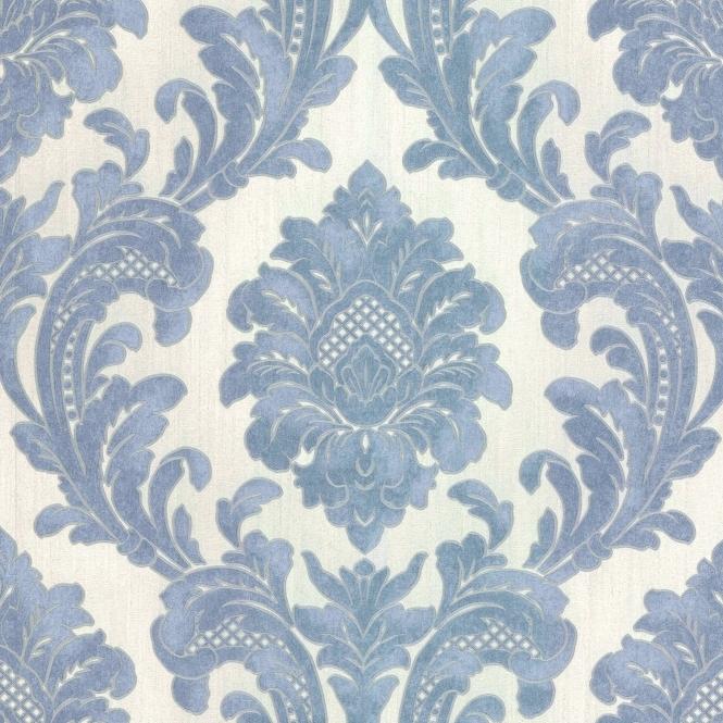 milano 7 damask wallpaper blue white m95586 wallpaper