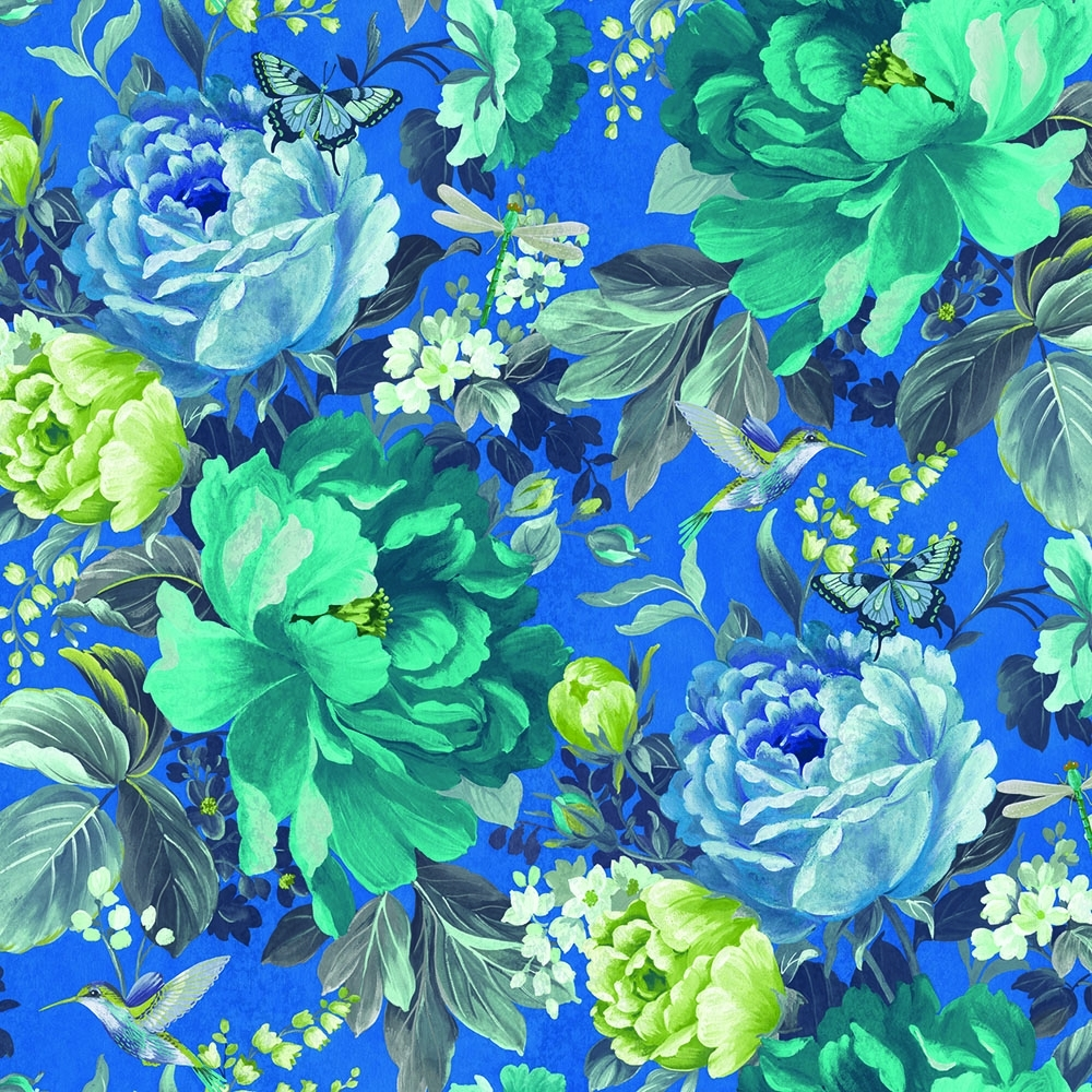 A Shade Wilder Dianthus Floral Wallpaper China Blue