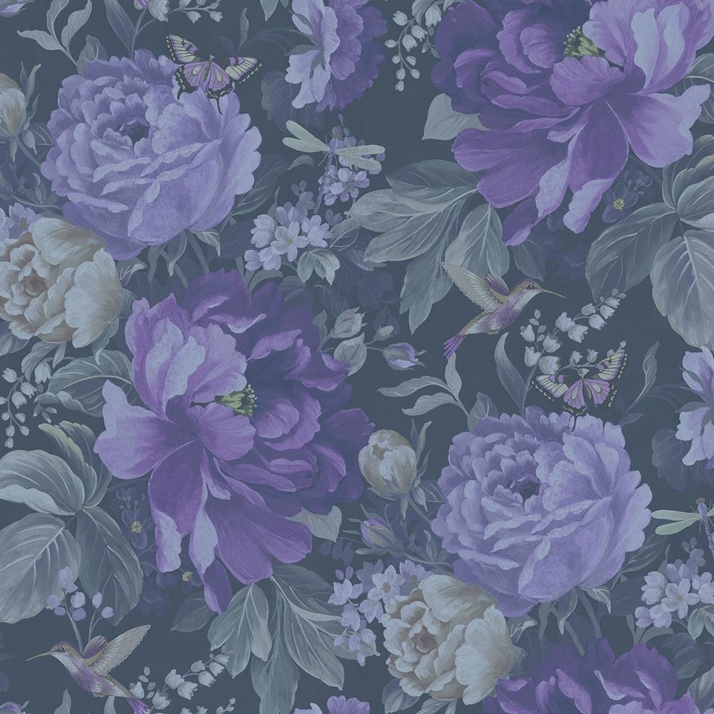 Dianthus Floral Wallpaper Purple Haze 300111