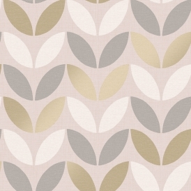 Ailsa Leaf Trail Wallpaper Pink