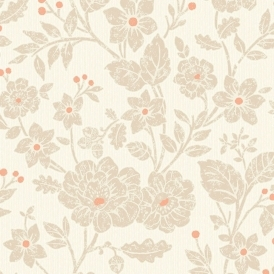 Alexandra Floral Wallpaper Burnt Orange