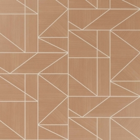 Alexis Geometric Wallpaper Rose Gold