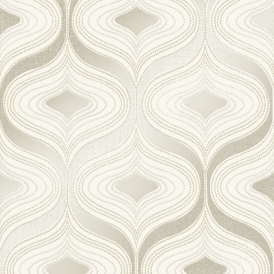 Alicia Geometric Wave Wallpaper Neutral