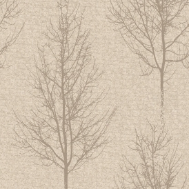 Alonzo Tree Motif Wallpaper Cream