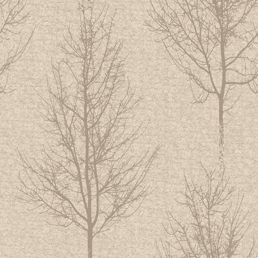 Holden Alonzo Tree Motif Wallpaper Cream Wallpaper From