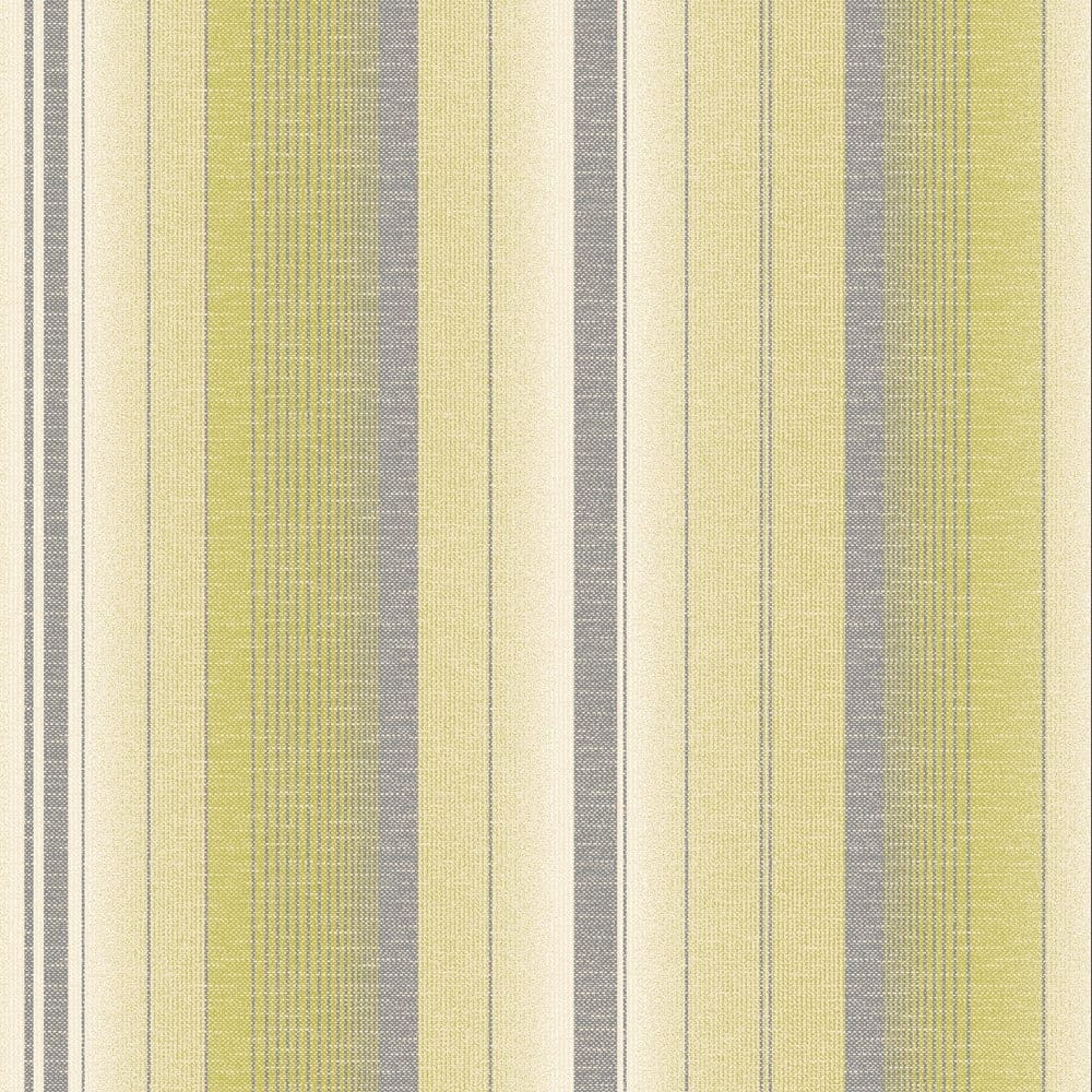 Amelia Striped Wallpaper Lime Green Cream Fd31386