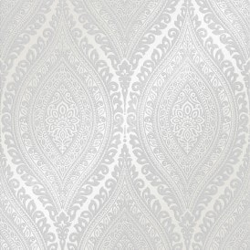 Ariana Wave Wallpaper Silver White
