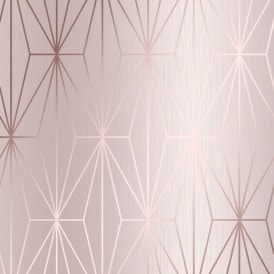 Arna Geo Wallpaper Rose Gold