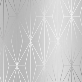 Arna Geo Wallpaper Silver