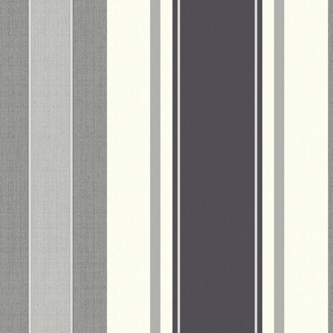 Arthouse Dante Stripe Textured Vinyl Wallpaper Black (885000)