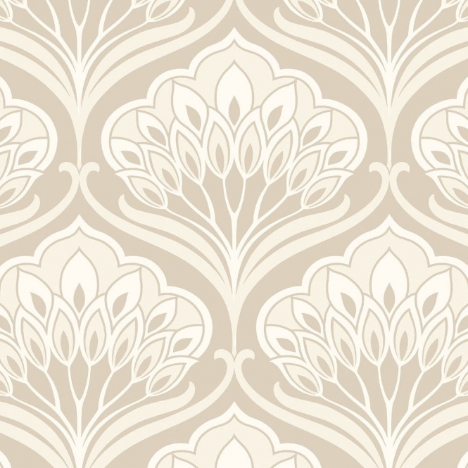 Arthouse Deco Peacock Wallpaper Neutral (901908)