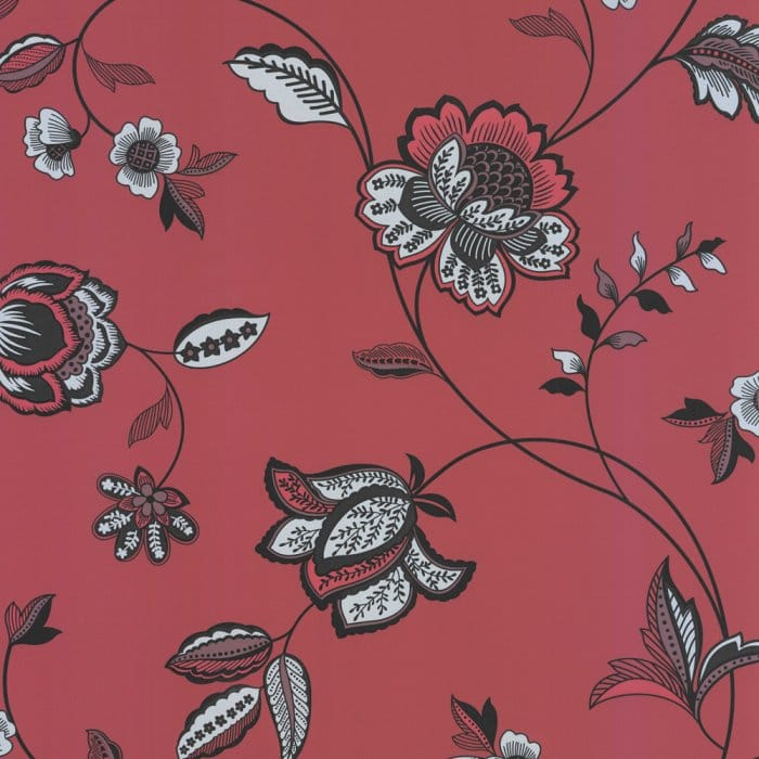 Buy Arthouse Gemini Motif Wallpaper Red / Black / Silver
