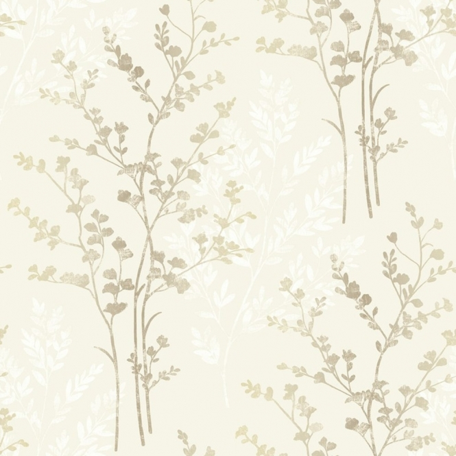 Arthouse Imagine Fern Motif Leaf Wallpaper Natural (250402)