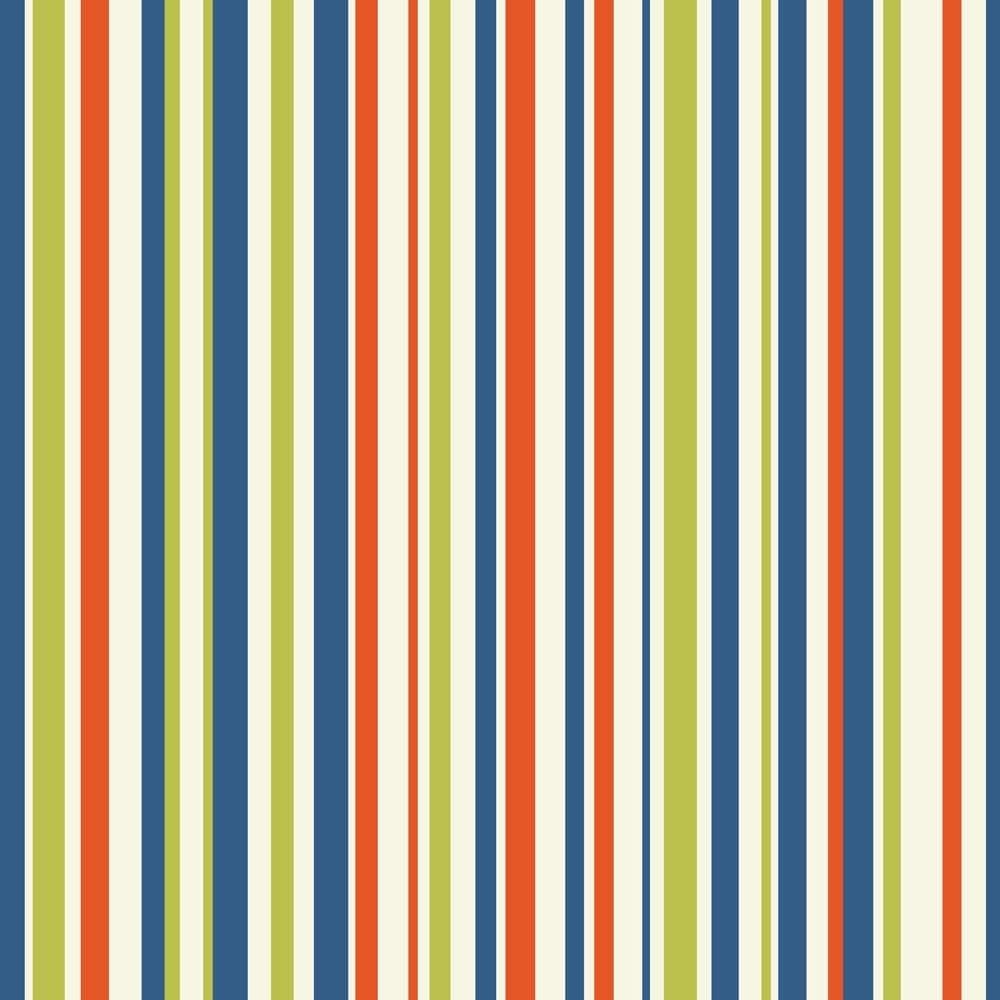 Imagine Fun Earn Your Stripes Wallpaper Orange Blue Green 668702