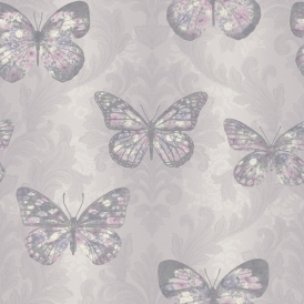 Imagine Midsummer Butterfly Wallpaper Heather (661204)