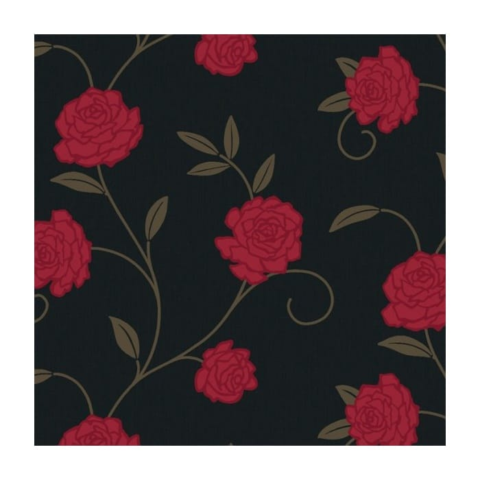 arthouse jardin floral wallpaper black red wallpaper