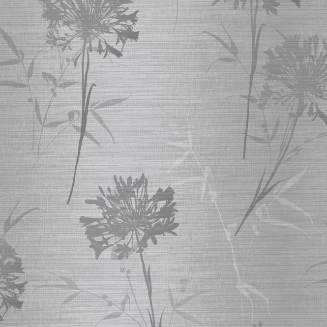 Arthouse Kimora Floral Wallpaper Silver