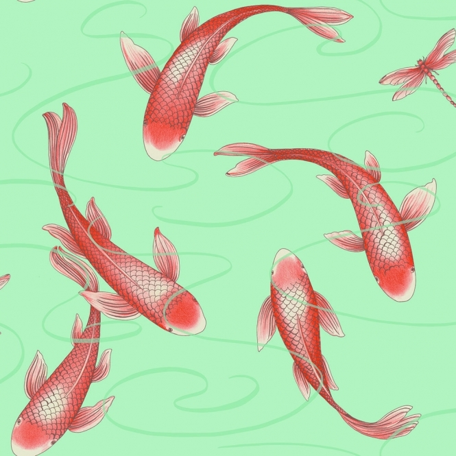 Arthouse Koromo Koi Wallpaper Clearwater (300066)