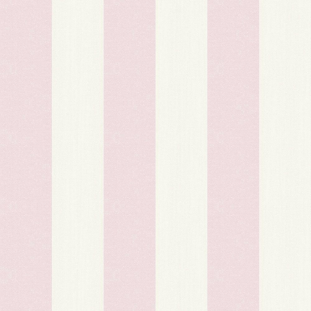 Linen Stripe Wallpaper Pink 620504