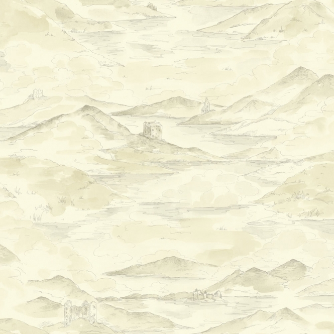 Arthouse Lochs & Lagoons Highland Countryside Wallpaper Cream