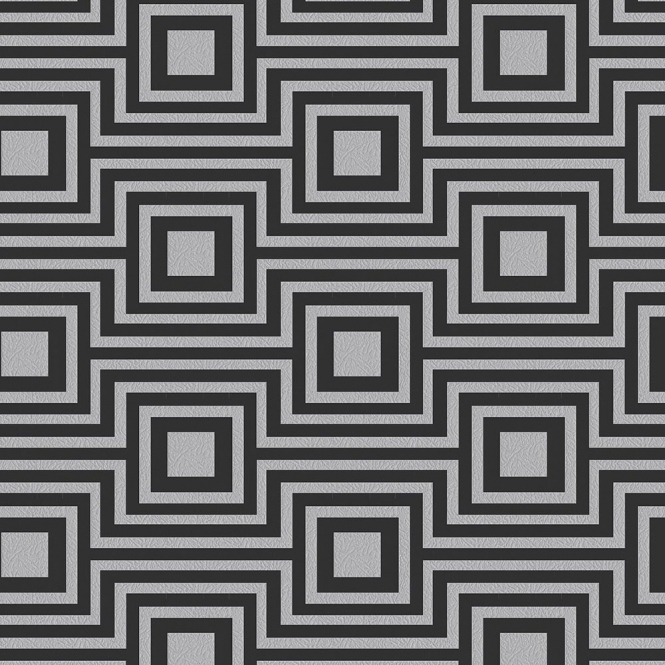 Arthouse Modena Geometric Wallpaper Charcoal, Silver (901801)