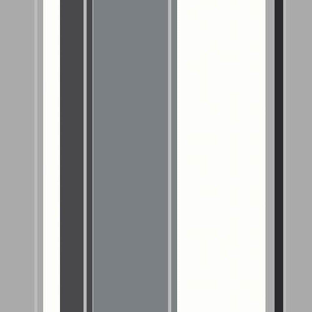 Arthouse Opera Carina Striped Wallpaper Black Grey