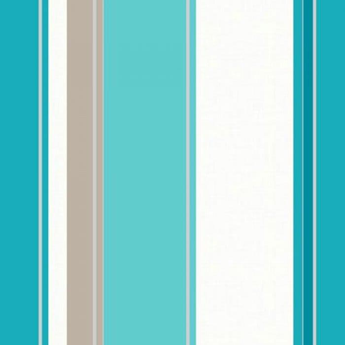 Arthouse Opera Carina Striped Wallpaper Teal Cream