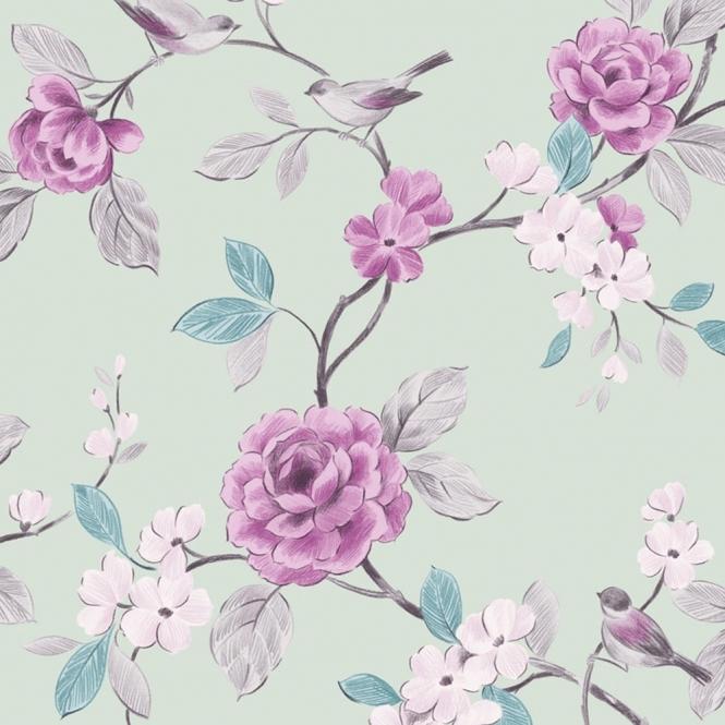Arthouse Opera Lara Floral Wallpaper Mint (414500)