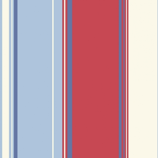 Arthouse Opera Lorelli Stripe Wallpaper Red, Blue (650904)