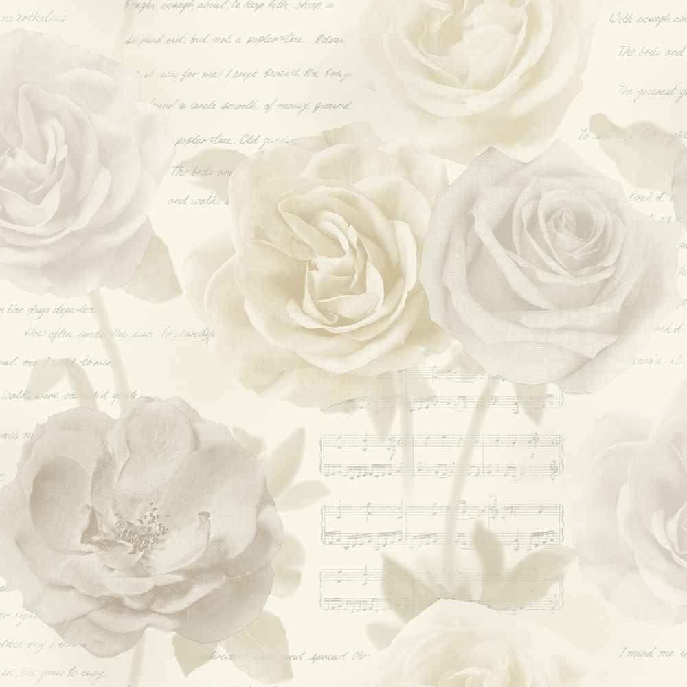 Arthouse opera rose garden wallpaper cream 650801 for Cream rose wallpaper