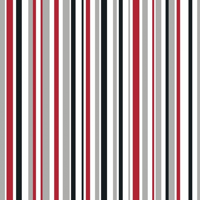Arthouse Opera Super Stripe Wallpaper Black, Red (533601)