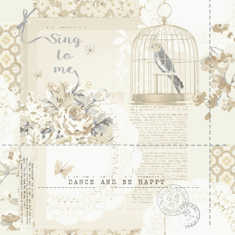 Options 2 Sing To Me Shabby Chic Wallpaper Neutral 671301