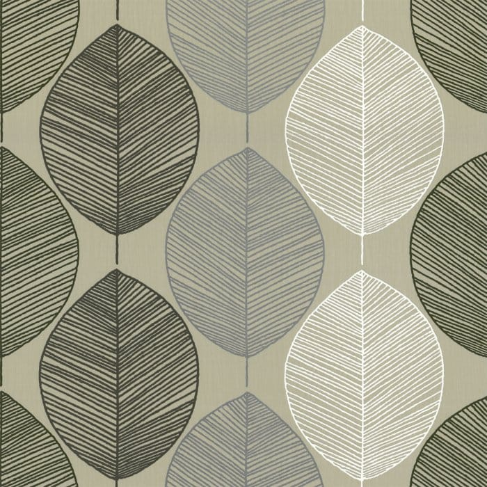 Buy Arthouse Retro Leaf Wallpaper Taupe Beige Cream