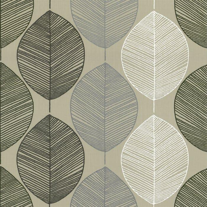 Buy Arthouse Retro Leaf Wallpaper Taupe Beige Cream