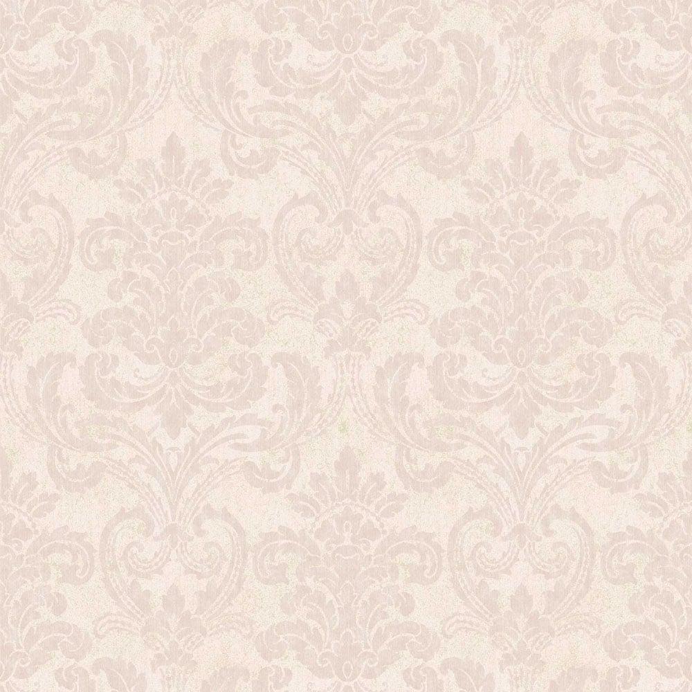 Arthouse Vintage Bari Damask Wallpaper Blush 291900
