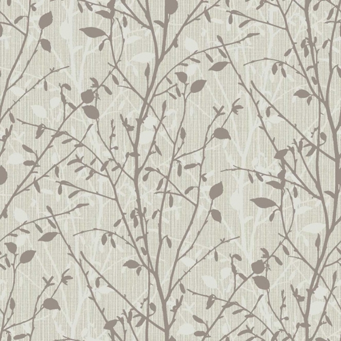 Arthouse Vintage Bosco Leaf Wallpaper Charcoal (291500)