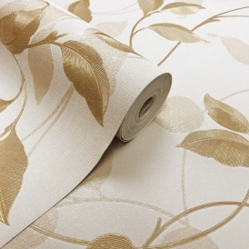 Vintage Capriata Leaf Wallpaper Gold (290302)