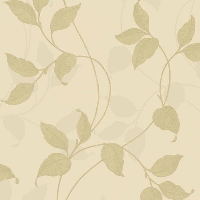 Arthouse Vintage Capriata Leaf Wallpaper Gold (290302)