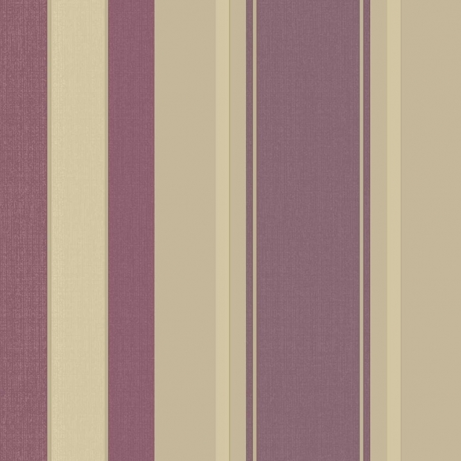 Arthouse Vintage Palazzo Stripe Wallpaper Mulberry (290500)