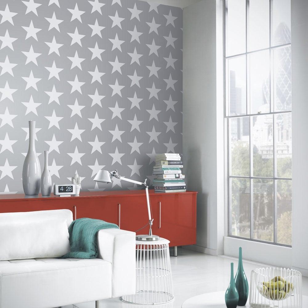 Vintage Starry Night Wallpaper Silver (891301) Part 87