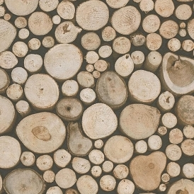 New Forest Log Wallpaper Brown (95836-1)